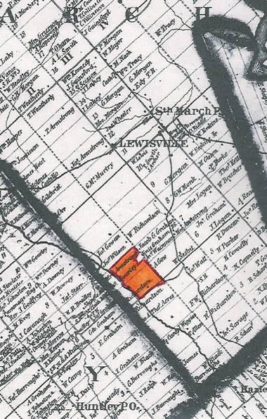 Figure 5: Portion of Walling s 1863 Map of Carleton County Showing Subject Property in