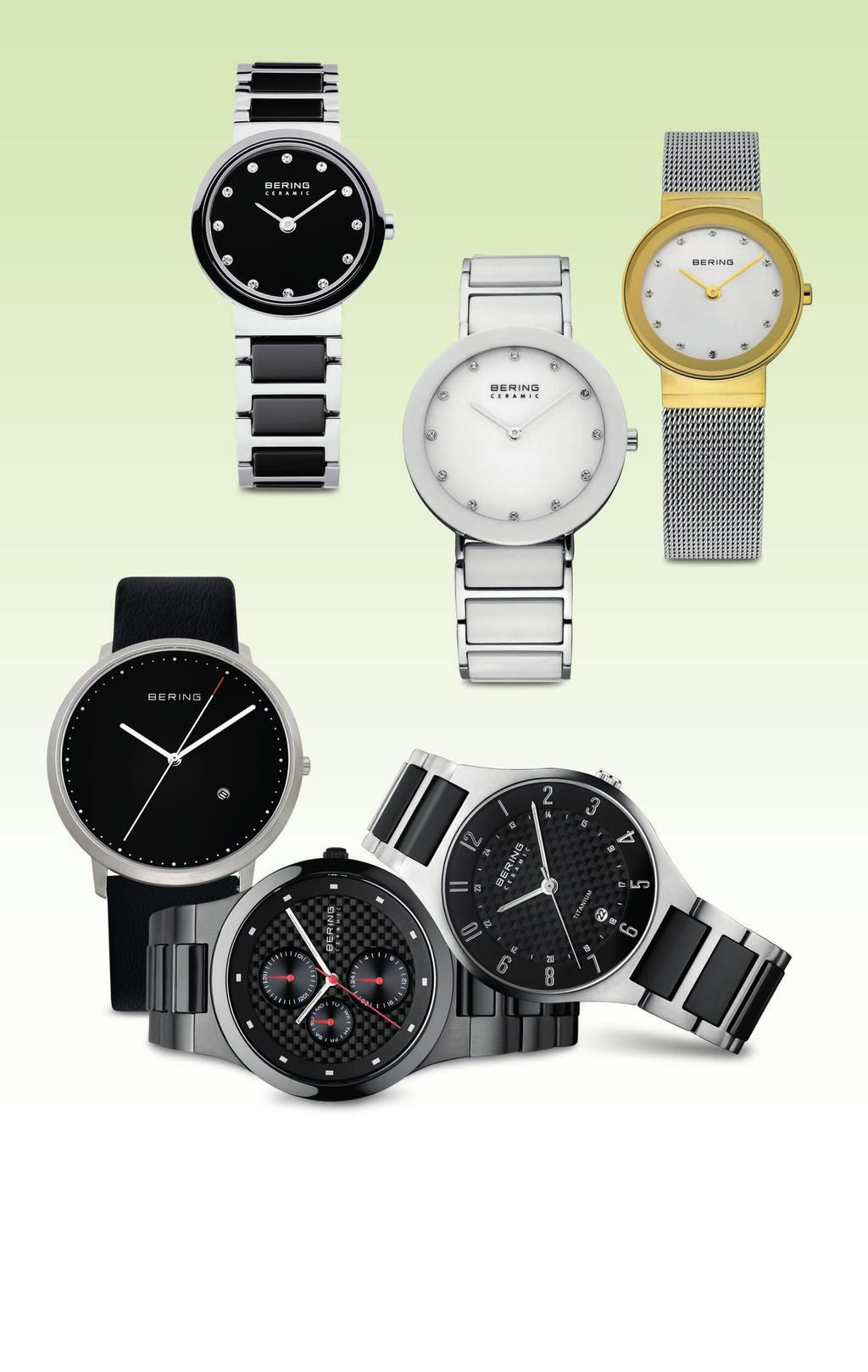 A A. Lady s stainless steel and black ceramic watch with black dial, $199. Lady s stainless steel and white ceramic watch, $199.