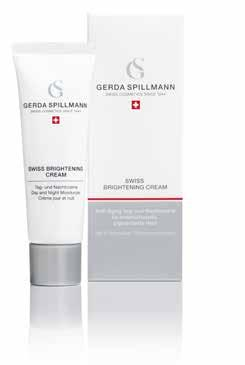 SWISS BRIGHTENING CREAM 50 ml skin with pigmentation, sensitive and dry skin SWISS BRIGHTENING CREAM is an anti-aging moisture cream that brightens your skin.