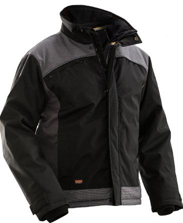 Winter jacket Chest pocket with ID-card pouch Durable polyester with smooth quilted lining Reinforced with Cordura on yoke and hem Reflective piping on yoke front and back 1316 Winter jacket Winter