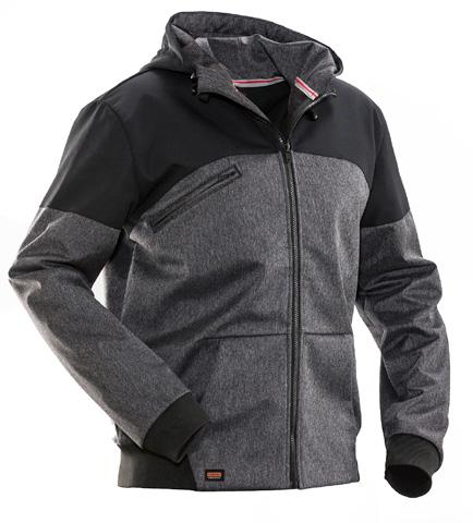 Softshell jacket Reinforced on shoulders Reflective piping on back Wind and water repellent softshell High breathability Thumb grip in cuffs 1292 Softshell jacket Wind and water repellent softshell