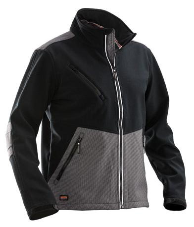 3-layer softshell jacket Cordura reinforcement on elbows, front pockets, and yoke 3-layer softshell with membrane and fleece lining Reflectives on front zipper and back