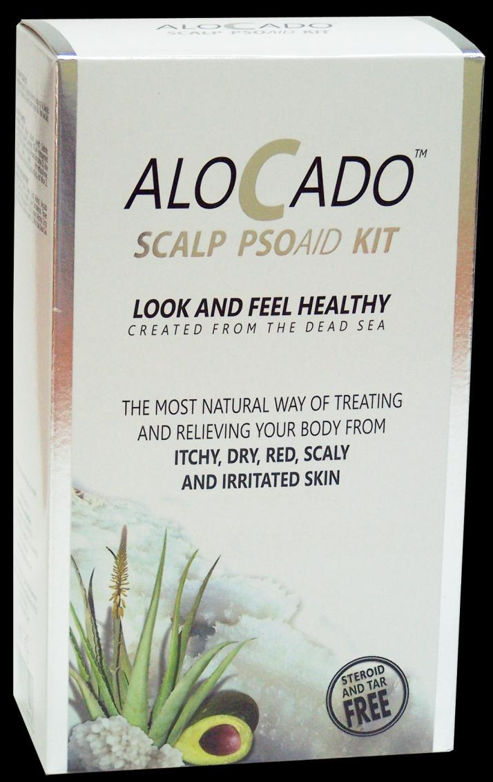 Alocado PSOAID Scalp kit The Alocado PSOAID Scalp kit contains a combination of three products for the treatment of dry to very dry irritated, itchy, flaky and damaged scalp.