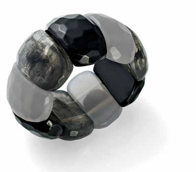 NZ$15 35011 Jet, Opaque and Marbled resin bracelet. 18cm.