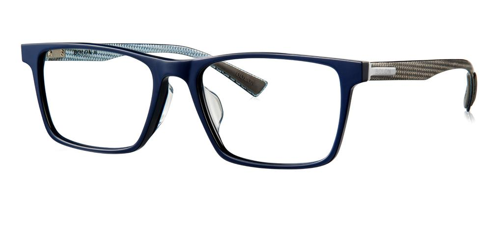 BJ3019 Classic rectangular frame. Perfect for the modern businessman. Non-slip carbon fibre temples.