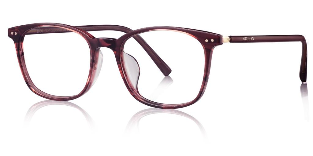 BJ3023 Lightweight acetate frame with specially-designed temples. Comfort-wearing experience.