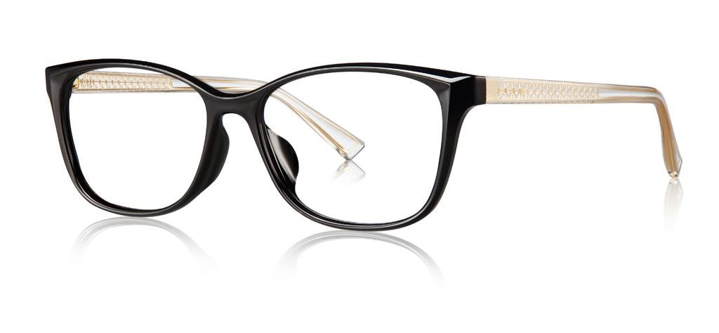 black/transparent TR temple Glossy black cat-eye TR frame Gold metal Eiffel design embedded in transparent TR temple Tortoiseshell cat-eye TR frame Gold metal Eiffel