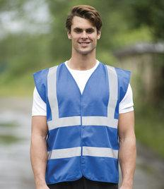 EV86 RTY Enhanced Visibility Vest 100% polyester. Tear and release fastening.