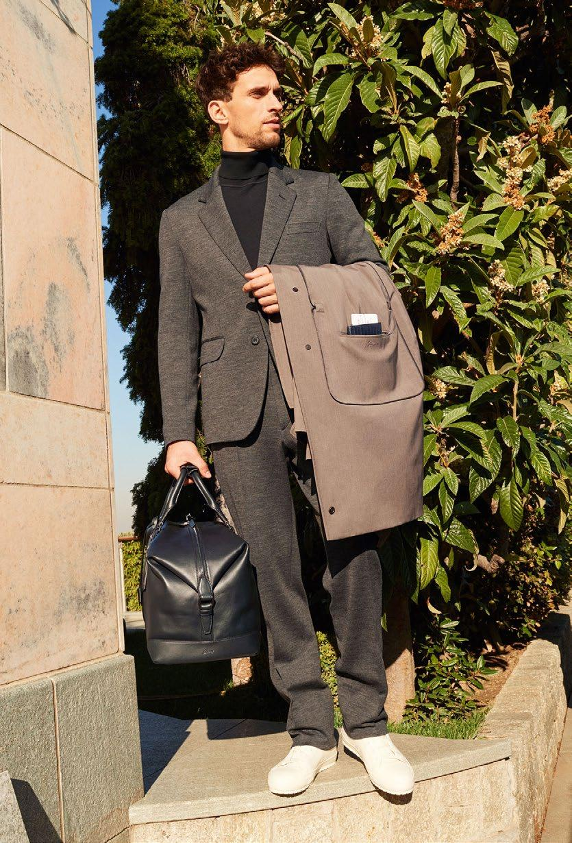 LOOK 11 THE BRIONI TRAVEL SUIT OUTERWEAR SOP8 O6AX3 2500 JACKET UJ7Q O7601 1100 UMU3
