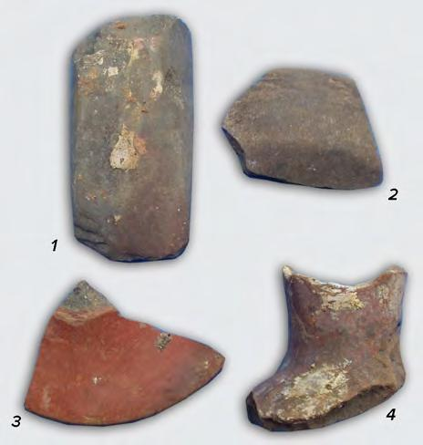 102 CHAPTER V Fig. V.6a. Surface G, pit house 2, axe (1) and Vinča A3 pottery. Fig. V.6b. Axe (after I. Paul 2007).