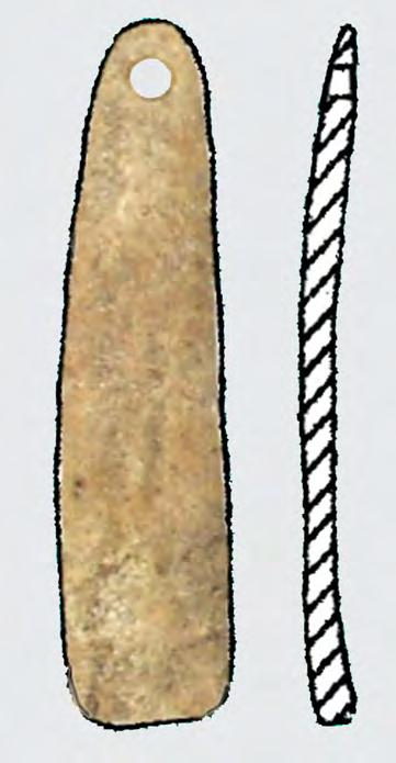Horedt s excavations in Surface A level IIb (0.45 0.65 m, IN 14440) there is a bone chisel (fig. V.