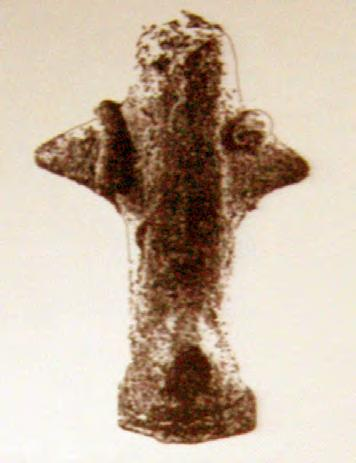 222 CHAPTER VIII Fig. VIII.5. Female pregnant figurine with an armlet from Pavlovac (F.Y.R.O.M.). A standing female figurine with an armlet on the right arm was unearthed at Pavlovac site (F.Y.R.O.M. ), which is famous for its Neolithic blind statuettes 824.