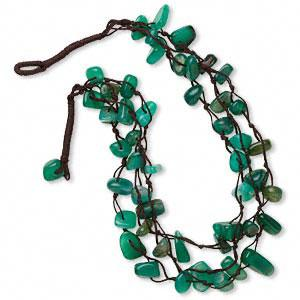 faceted bicones, 32-inch length #AFMN600 Green