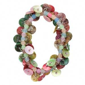 Bracelet, stretch, shell and acrylic beads,