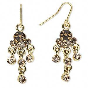 #AFME511 Earrings, silversilver-plated pewter and rhinestones, pink,