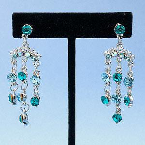 #AFME517 Earrings, silversilver-plated pewter with rhinestones,