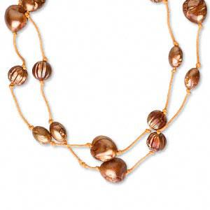 #AFMN562 $28 Wood and plastic bead necklace, Necklace,