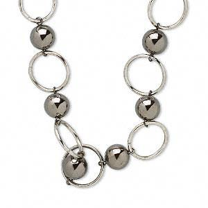 with 2-inch extender chain #AFMN568 Necklace, acrylic and