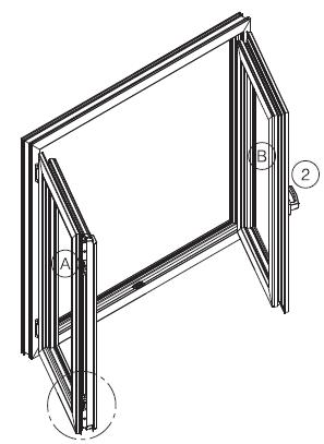 Double Sash Window (False Mullion) In this application there is no profile (Mullion) fix in the middle of the window when both sashes are opened.
