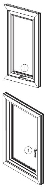 Horizontal Opening Vertical Opening Opening the Window Sash To open the window, the handle is moved from position 1 to position