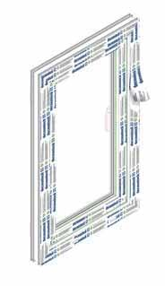 COMPONENTS ON THE WINDOW Deceuninck window systems are consisted of PVC profiles and the following