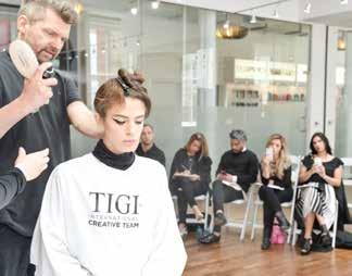 Following an intensive selection programme, the TIGI Collective share valuable