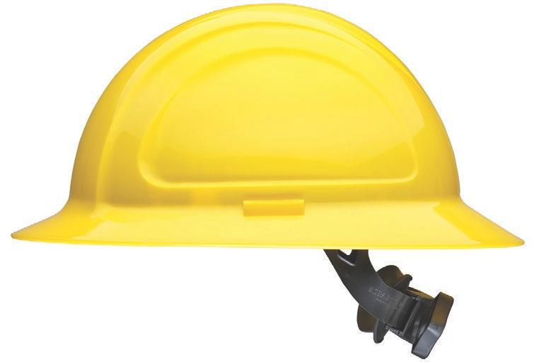 HARD HATS N10R150000 North Zone Full Brim and Cap Style Hard Hat Sleek, modern shell design is low profile Four large areas for custom logo imprinting Multiple adjustment points allow for
