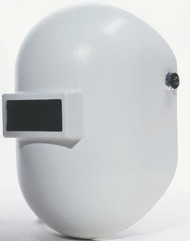 glass holder with a telescoping lid Unique helmet shell design provides extended throat protection Shell molded from Noryl Exclusive 3-C headgear features multiple adjustments 906BE 906BK 906GY 906SR