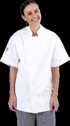POLY COTTON OR POLYVISCOSE CHEF JACKET SHORT SLEEVES