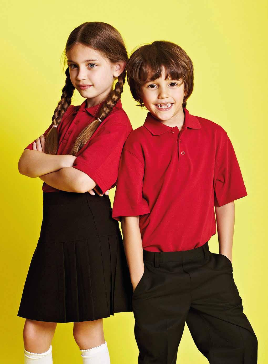 POLYVISCOSE ABOVE KNEE LENGTH AND TIE POLYESTER BOYS: POLO TSHIRT, SHORT