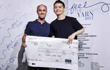Winner of international knitwear competition selected Yuan-Lung Kao, a student at Royal College of Art, has won the eighth edition of Feel the Yarn, the competition for international creative young