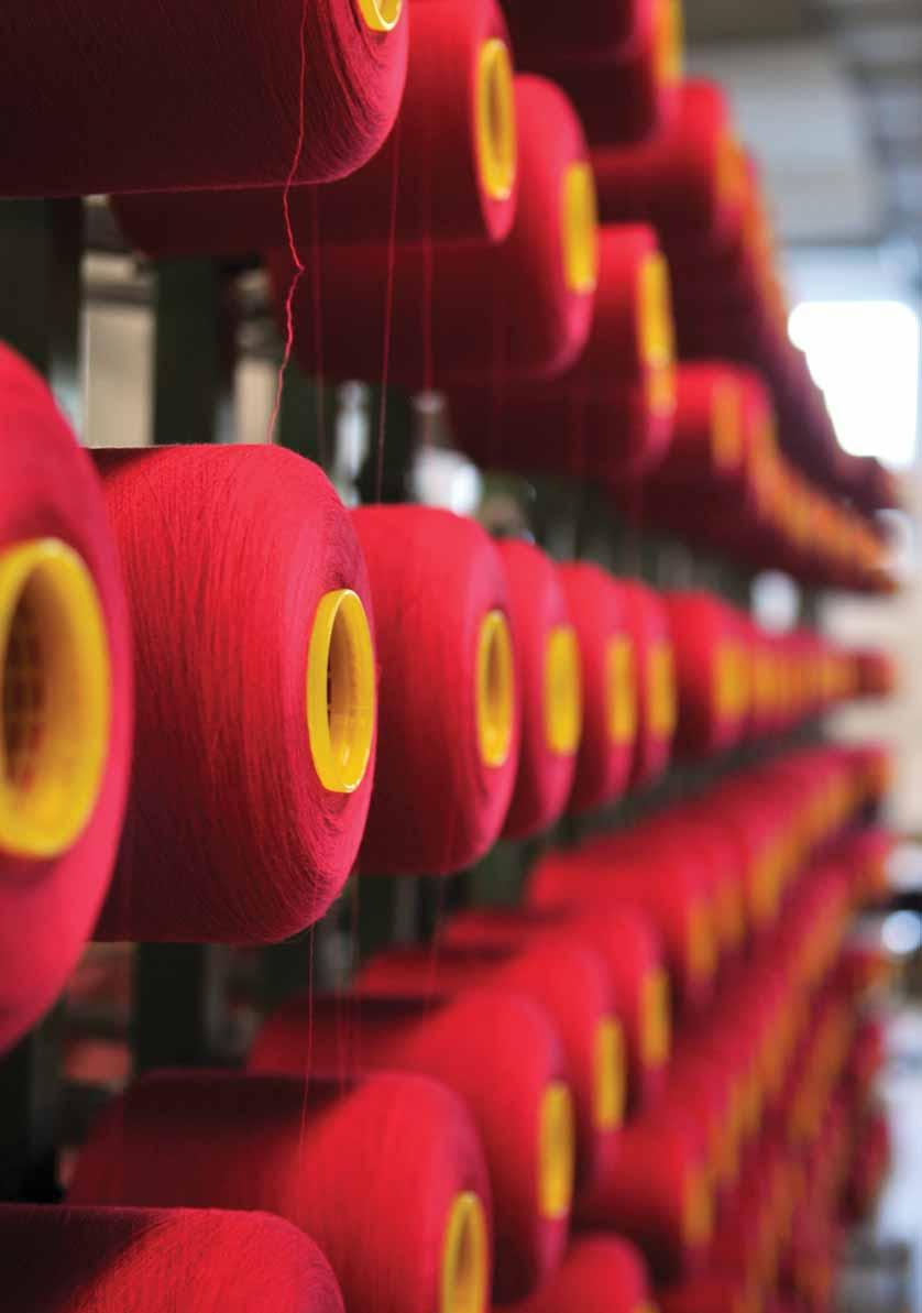 Indian Yarn & Fabric industry Optimistic about future growth The textile industry is the largest industry of modern India.