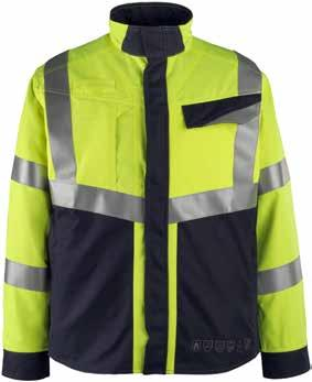 MASCOT Biel Work Jacket Pocket in storm flap is accessible without opening the jacket ergonomically cut for easy opening