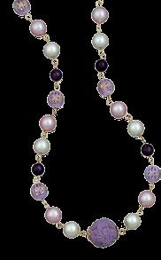 Pink and Purple Copper Bead Set E024 R149