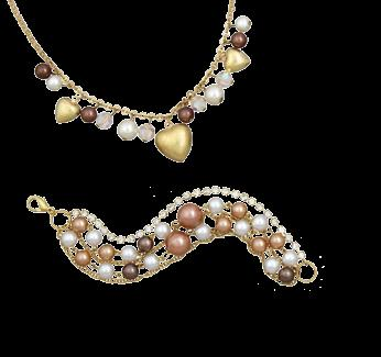 Antique Gold with Topaz and Pearls