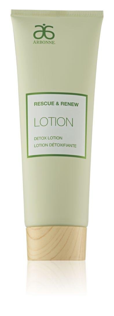 DETOX LOTION Improves the appearance of dull, lackluster, tired-looking skin Promotes smooth-looking skin through moisturization Provides immediate hydration while also replenishing skin s natural