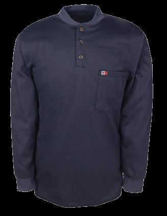 LONG SLEEVE HENLEY AVAILABLE IN 2 COLORS & 2 FABRICS MADE IN USA / COMFORTABLE RIB KNIT COLLAR & CUFFS / RELAX FIT / 3 BUTTONS FRONT CLOSURE / 1 LEFT CHEST POCKET / TAGLESS NECK