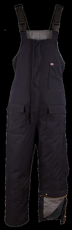 SNAP OVER FRONT AND LEGS ZIPPER CLOSURE / INTERNAL LEG GAITER / 1 LEFT CHEST POCKET / 2 LARGE BOTTOM PATCH