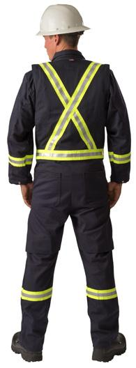 EV FLASHTRAP VENTED COVERALL AVAILABLE IN 3 COLORS & 1 FABRIC MADE IN CANADA / 2 SNAP FRONT