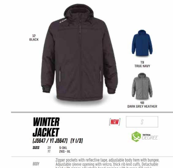 CANADA SPORTSWEAR MELTON JACKET 80% Wool / 20% Nylon Inner zippered storm flap with knit collar for comfort and style. 5 Button closure and quilted lining for added warmth.