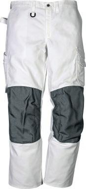 pockets / 2 large, CORDURA reinforced back pockets / D-ring / Hammer loop / Pre-shaped knees / CORDURA reinforced knee pockets with inside opening / Height adjustment for knee pads in knee pocket /