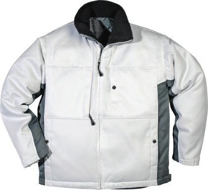 embroidery / Approved according to EN 342. MATERIAL 100% polyester, dirt, oil and water repellent. Quilted lining. WEIGHT Outer fabric 260 g/m², lining 160 g/m². COLOUR 900 White. SIZE XS 2XL.