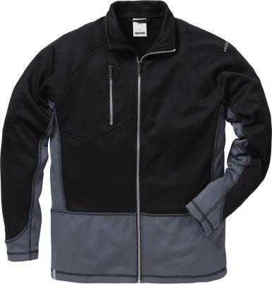 COLOUR 896 MELANGE FABRIC, SMOOTH OUTSIDE STRETCH MATERIAL 597 896 996 FLEECE SWEAT JACKET 7451 PRKN Article no 114032 Melange fabric /