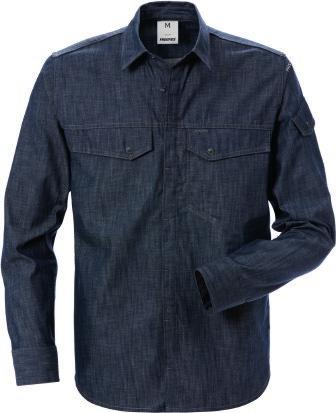 545 DENIM SHIRT 7003 DSH Article no 124154 Concealed snap fastening at front / 2 chest pockets with flap and snap
