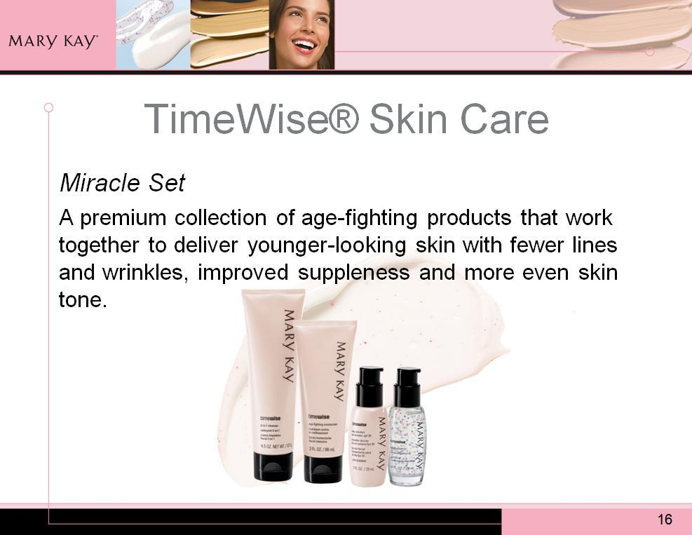 Because they work together to maximize the anti-aging benefits, be sure to tell your customers about the Miracle Set.
