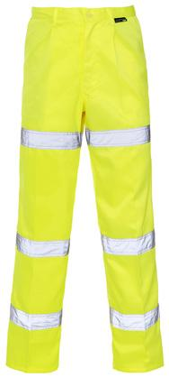 TROUSERS HI VIS 3 BAND POLYCOTTON TROUSERS Why choose between an ankle or knee band trouser when you could choose our Hi Vis Polycotton 3 Band Trousers - perfect for a multitude of activities in