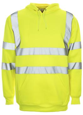 TROUSERS & SWEATSHIRTS NEW HI VIS HOODED SWEATSHIRT For added comfort without compromising on high visibility protection, take a look at our Hi Vis Hooded Sweatshirt - perfect for construction, event