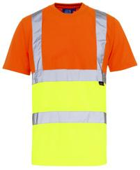 T-SHIRTS HI VIS T-SHIRT This 2 band & brace Hi Vis T-Shirt is one of our most popular hi-vis products.