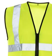 VESTS Optional Zip Fastening 2 Band & Brace Black or Yellow Binding Available Optional ID Pocket HI VIS