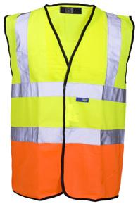 after hi-vis waistcoats that stand out from the crowd, look no further than our Hi Vis 2 Tone Vest.